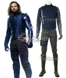 Marvel Avengers: Infinity War Winter Soldier James Buchanan Barnes Bucky  Barnes Cosplay Costume