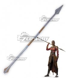 Marvel Black Panther 2018 Movie Okoye Spear Cosplay Weapon Prop
