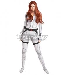 Marvel Black Widow 2021 Natasha Romanoff Zentai Jumpsuit Cosplay Costume White Edition