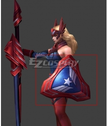 Marvel Captain America Sharon Rogers Shield Cosplay Prop
