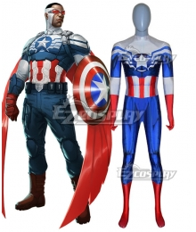 Marvel Comic All-New Captain America Zentai Jumpsuit Cosplay Costume