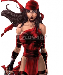 Marvel Comics Elektra Natchios Cosplay Costume
