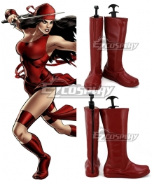 Marvel Comics Elektra Natchios Red Shoes Cosplay Boots