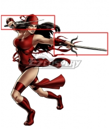 Marvel Comics Elektra Natchios Two Sai Cosplay Weapon Prop