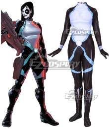 Marvel Comics X-Men Deadpool Neena Thurman Domino Cosplay Costume