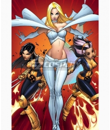 Marvel Comics X-Men White Queen Emma Frost Cosplay Costume