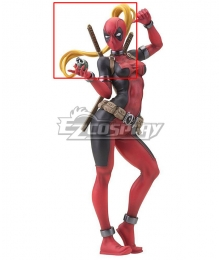 Marvel Deadpool Lady Wade Wilson Female Golden Cosplay Wig