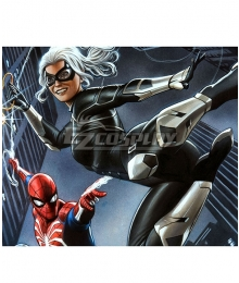Marvel Spider-Man PS4 Spiderman The Heist Felicia Hardy Black Cat Cosplay Costume