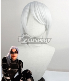 Marvel Spider-Man PS4 Spiderman The Heist Felicia Hardy Black Cat Silver White Cosplay Wig