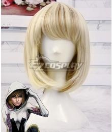 Marvel Spider Gwen Zentai Light Golden Cosplay Wig