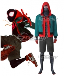 Marvel Spiderman Spider-Man: Into The Spider-Verse Miles Morales Zentai Jumpsuit Cosplay Costume