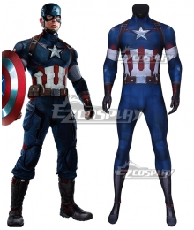 Marvel The Avengers 2 Captain America Zentai Jumpsuit Cosplay Costume
