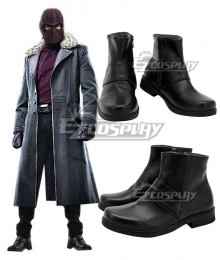 Marvel The Falcon and the Winter Soldier Baron Zemo Black Cosplay Shoes