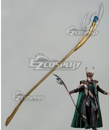 Marvel Thor 2: The Dark World Loki Wand Cosplay Weapon Prop
