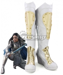 Marvel Thor 3 Ragnarok Trailer Valkyrie Silver Golden Shoes Cosplay Boots
