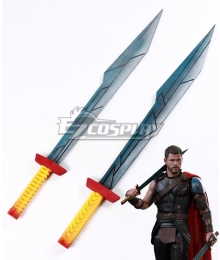 Marvel Thor: Ragnarok Thor Odinson Two Swords Cosplay Weapon Prop