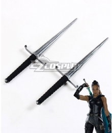 Marvel Thor: Ragnarok Valkyrie Brunnhilde Two Daggers Cosplay Weapon Prop