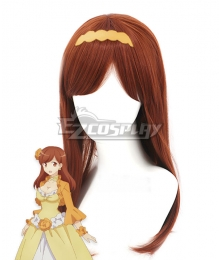 My Next Life as a Villainess: All Routes Lead to Doom! Mary Hunt Brown Red Cosplay Wig