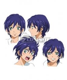 Mawaru Penguindrum Shoma Takakura Blue Cosplay Wig