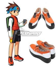 MegaMan.EXE Lan Hikari Orange Cosplay Shoes