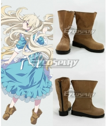 Mekakucity Actors Kagerou Project NO.4 Kozakura Marry Mari Brown Cosplay Shoes