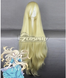 Mekakucity Actors Kagerou Project NO.4 Kozakura Marry Mari Gold Cosplay Wig