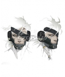 Metal Gear Rising: Revengeance Raiden Mask Cosplay Accessory Prop