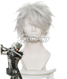 Metal Gear Rising: Revengeance Raiden Silver Grey Cosplay Wig - 451B