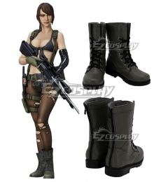 Metal Gear Solid V: The Phantom Pain Quiet Gray Black Shoes Cosplay Boots