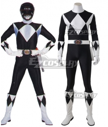 Mighty Morphin Power Rangers Black Ranger Cosplay Costume - Without Boots