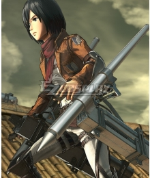 Attack On Titan Shingeki No Kyojin Final Season Mikasa Ackerman Thunder Spears Cosplay Weapon Prop