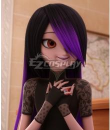 Miraculous Ladybug Juleka Couffaine Purple Black Cosplay Wig