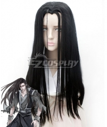 The Grandmaster of Demonic Cultivation Mo Dao Zu Shi Wen Ning Ghost General Black Cosplay Wig