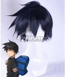 Mob Psycho 100 Ritsu Kageyama Black Blue Cosplay Wig