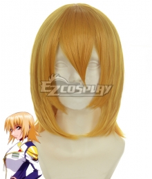 Mobile Suit Gundam SEED Cagalli Yula Athha Golden Cosplay Wig