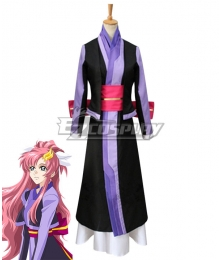 Mobile Suit Gundam SEED Lacus Clyne Purple Cosplay Costume