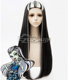 Monster High Frankie Stein Black White Cosplay Wig