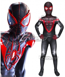Kids PS5 Marvel 2021 Spider-Man: Miles Morales Zentai Jumpsuit Cosplay Costume