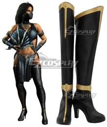 Mortal Kombat Kitana Black Shoes Cosplay Boots