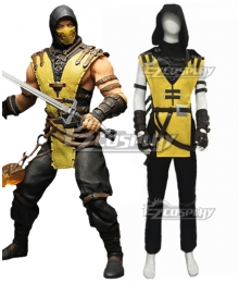 Mortal Kombat X Scorpion B Edition Cosplay Costume