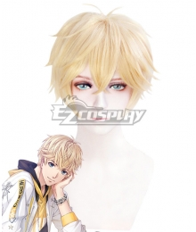 Mr Love: Queen's Choice Evol x Love Kiro Zhou Qiluo Kira Golden Cosplay Wig