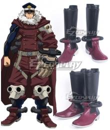 My Hero Academia Boku no Hero Academia Inasa Yoarashi Black Red Shoes Cosplay Boots
