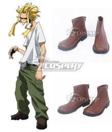 My Hero Academia Boku No Hero Akademia All Might Brown Cosplay Shoes