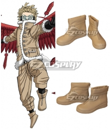 My Hero Academia Boku No Hero Akademia Hawks Brown Cosplay Shoes