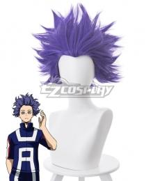 My Hero Academia Boku No Hero Akademia Hitoshi Shinsou Matt Blue Purple Cosplay Wig - 445K