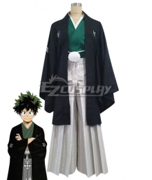 My Hero Academia Boku No Hero Akademia Izuku Midoriya Deku Happy New Year Kimono Cosplay Costume