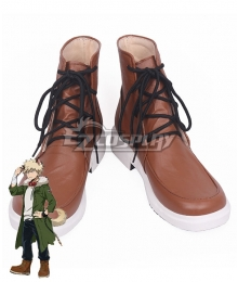 My Hero Academia Boku No Hero Akademia Katsuki Bakugou Halloween Brown Shoes Cosplay Boots