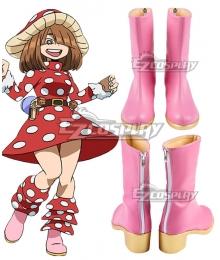 My Hero Academia Boku No Hero Akademia Kinoko Komori Pink Cosplay Shoes