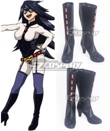 My Hero Academia Boku No Hero Akademia Midnight Black Shoes Cosplay Boots