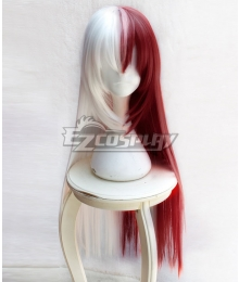 My Hero Academia Boku No Hero Akademia Shoto Todoroki Female Red White Long Cosplay Wig